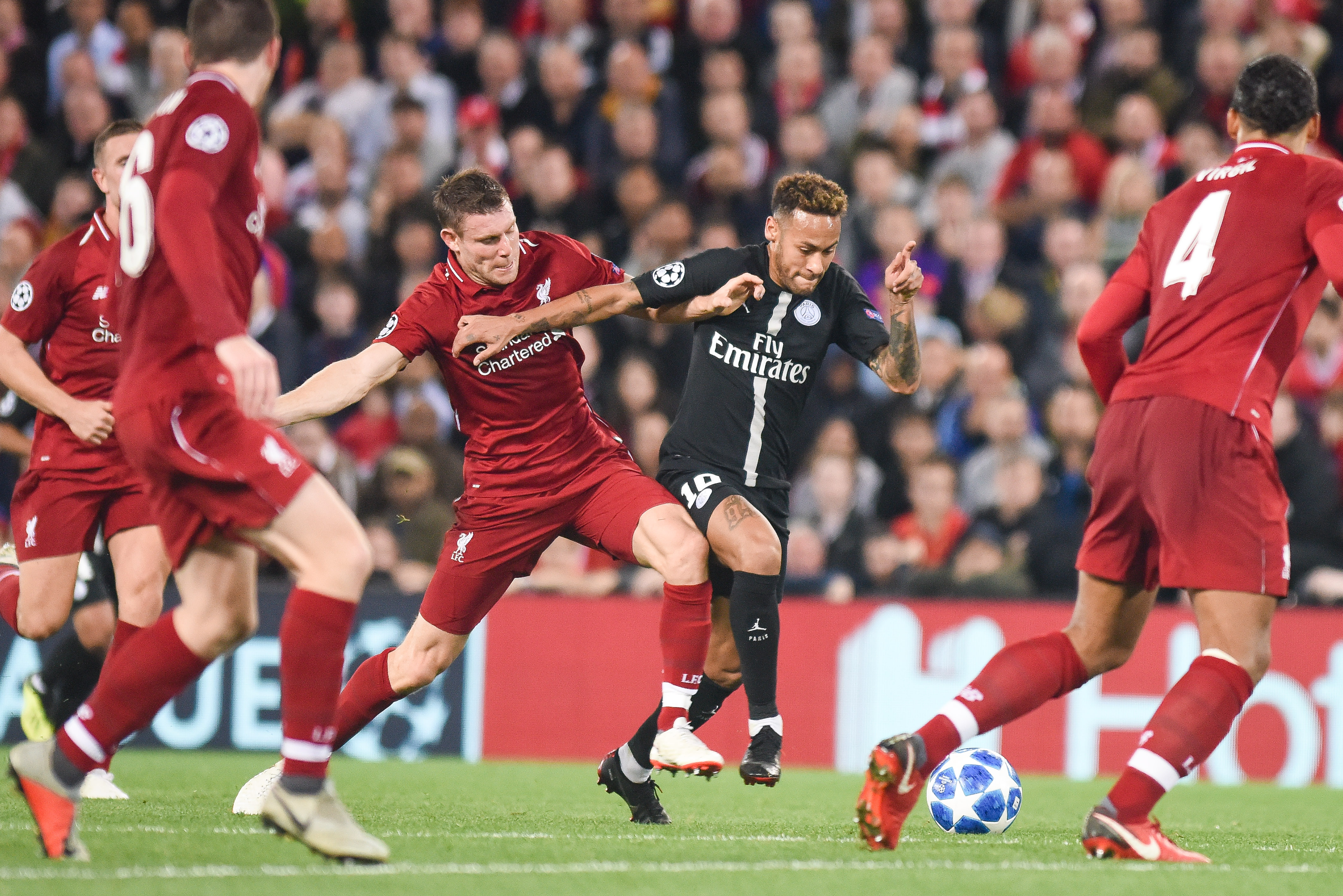 Liverpool v Paris Saint-Germain, Champions League, Football, Anfield, UK, 18.9.2018