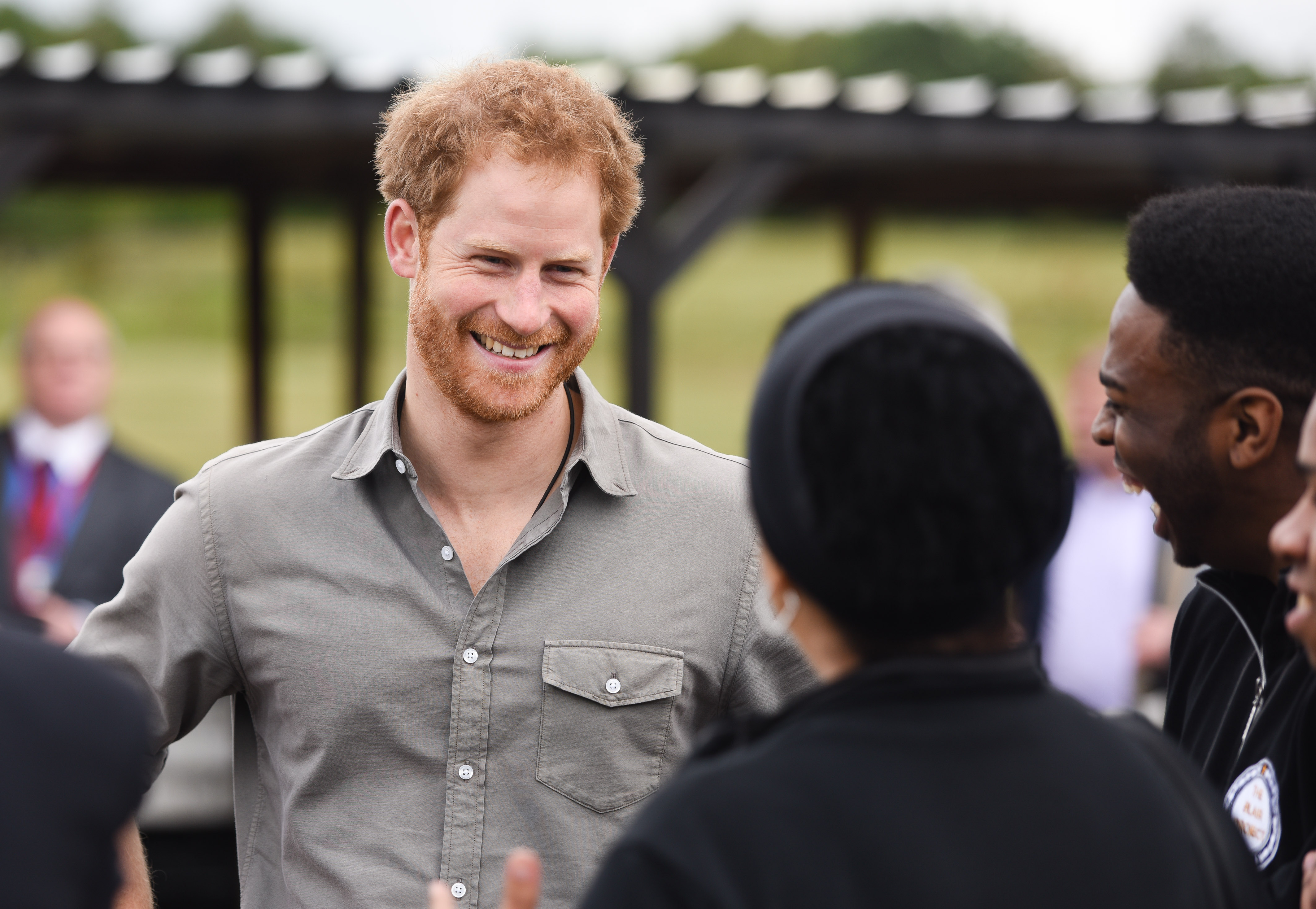 Prince Harry North West visit
